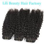 Lili 아름다움 브라질 비꼬인 꼬부라진 사람의 모발은 자연적인 사람의 모발을 묶는다