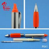 高品質のHighlighterの販売法のペンによってカスタマイズされるロゴのプラスチックペン