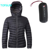 Women's Packable Puffer Down Jacket Fashion ultra légers vêtements avec le phoque à capuchon