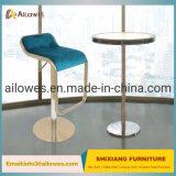 Barra de metal móveis reguláveis em altura Bancada giratória em aço inoxidável Banqueta cadeira