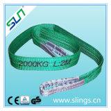 6:1 de facteur de sûreté de bride de sangle de double oeil de polyester de 2t*5m