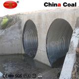 Alcantarilla ondulado de metal del tubo de acero corrugado Arch
