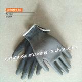 Guanti di funzionamento di sicurezza rivestita della palma del lattice di K-52 Polycotton