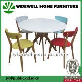 4脚の木製の椅子が付いているカシの食堂テーブル