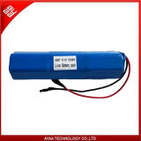 18650 11,1V 15.6 ah Batería recargable de Li-ion Battery Pack para la iluminación