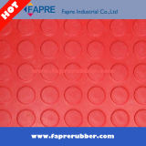 Matting de borracha enchido circular da tecla redonda do teste padrão da moeda