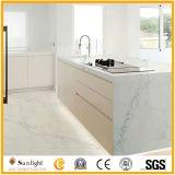 Chinese Countertop van de Keuken van de Steen van het Kwarts Calacatta van de Luxe Kunstmatige Witte