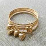 Braccialetti dei braccialetti di fascini del cuore del fiore della Rosa placcati oro impostati