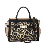 Ornamento de metal Charming Leopard Pattern Lady Tote Bag (MBNO040016)