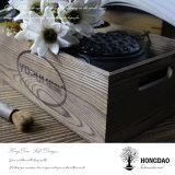 Пользовательские Hongdao сожгли цветной деревянный ящик для хранения без крышки оптовой_D
