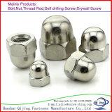 DIN1587 l'acier inoxydable normal, acier du carbone, écrous borgnes Hex, hexagone a couvert d'un dôme des écrous borgnes