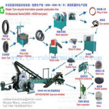 Hoher automatischer Abfall/verwendeter Reifen, der Produktions-Maschinen-Reifen-Zerkleinerungsmaschine-Maschine mit Cer ISO9001 SGS aufbereitet