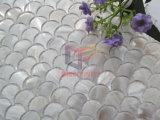 魚スケールの白い真珠母は作ったモザイク(CFP137)を