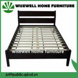 部屋の家具(WJZ-B108)として固体マツ木のダブル・ベッド