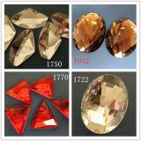 Vele Grootte voor het Ovale Bergkristal van het Glas van het Kristal Vlakke Achter