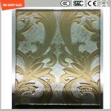 3-19mmの安全構築ガラス、ホテルの壁のためのガラス、パターン平らなか曲がった緩和されたガラスか床かSGCC/Ce&CCC&ISOの区分切り分ける紙やすりで磨くガラス