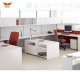 Poste de travail droit de bureau, bureau avec la partition de bureau