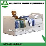 記憶の脚輪の引出し(WJZ-B24)が付いている固体マツ木寝台兼用の長椅子