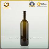 Botella de cristal roja del vino 750ml de Burdeos principal del corcho (033)