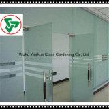 Melhor qualidade de 3-19mm de ácido temperado gravado Painel de vidro de porta