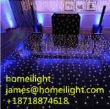 Schwarzer weißer MischStarlit Fußboden der farben-LED für Hochzeits-Stadium