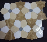 Мозаика конструкции цветка белая мраморный, каменная конструкция мозаики, белая мраморный мозаика