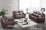 Canapé-lit en cuir de couleur marron 3 sièges