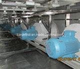 Congelador de leito fluidificado para frutas e vegetais marisco IQF Morango