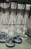 Conduite d'eau en verre neuve avec la base droite lourde 1.5kg 18inch