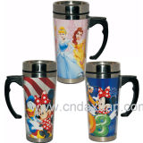 Populaires de la publicité en acier inoxydable mug personnalisé avec du papier de promotion