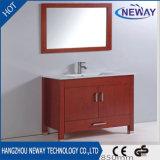 Singolo tipo Governo di ceramica di vanità della stanza da bagno del bacino di legno solido