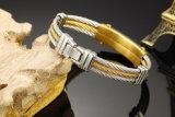 Armband van het Roestvrij staal van het Titanium Mens van China de In het groot