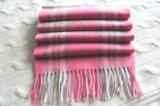 男女兼用の100%年のカシミヤ織の毛織の小切手のスカーフ