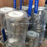3PC Flange Ball Valve con l'iso Pad