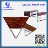 2018 Nuevo Producto AAC Ángulo Agudo minera en un futurista diseño en madera de PC Portátil Miner