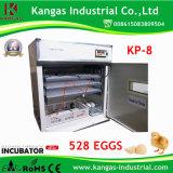 Incubateur solaire complètement automatique approuvé de poulet de la CE pour 528 oeufs