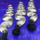 Da onda malaia do corpo do Virgin cabelo colorido de trama de Ombre de dois tons