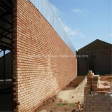 벽돌 벽을%s 가진 강철 물자 저축 강철 건물