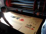 홈을 파기 인쇄하는 4 색깔 Flexo는 Pizaa 상자를 위한 절단기를 정지한다