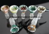 Tubos masculinos de cristal de los tazones de fuente de cristal del tazón de fuente 14mm/19m m para el tubo de agua