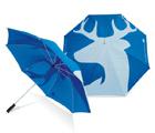 14mm eixo de aço e costelas de pregas duplo, Flul Imprimindo, abrir mão do Prisioneiro Golf Umbrella, Anti-Rust, Publicidade Dom Umbrella