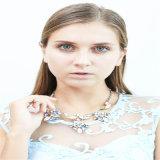 De nieuwe Halsbanden van de Armbanden van de Oorringen van de Juwelen van de Manier van de Stenen van het Glas van de Hars van het Punt Kleurrijke Acryl