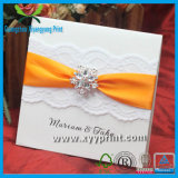 Venta al por mayor de encargo de la tarjeta de la invitación de la boda de la alta calidad de la fábrica