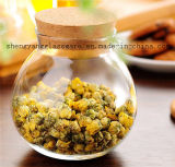 Frasco de vidro do armazenamento do Sell quente/recipiente de vidro do chá com tampa de madeira/Homeware