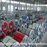 Origen China JIS G550 de recubrimiento de zinc de cualquier color Ral bobinas 0.23~2mm