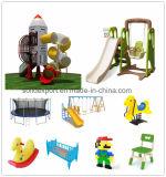 Скольжение и качание оборудования детского сада дешевого малого размера цветастые