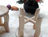 كرسيّ مختبر صلبة خشبيّة مستديرة ([م-إكس2106])