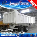 Transportes pesados 3 Eixos 50ton 60toneladas contentor semi reboque de descarga de inclinação do reboque de caixa basculante