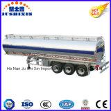 3 diesel de la aleación de aluminio del árbol 52cbm de BPW/gasolina/petróleo crudo/gasoducto/del cargo a granel de petrolero del carro del tanque acoplado químico líquido semi