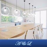 Lâmpada pendente de vidro de novo modelo de design nórdico para sala de estar